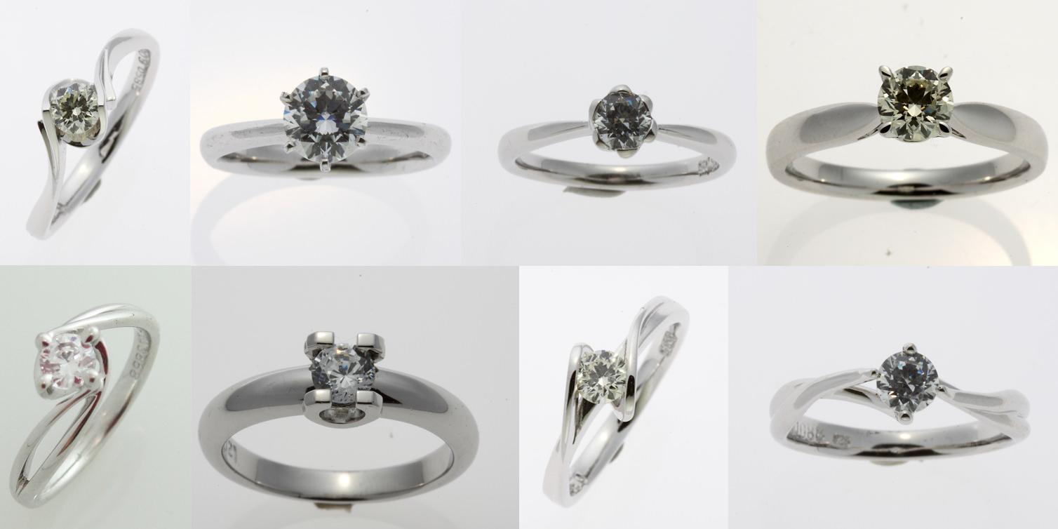 △ 各式大牌同款經典款求婚鑽戒,除了喜歡極簡設計風格的小伙伴,這些款式戒托材質18K,主石GIA 0.30ct,$23600就可以入手,也很建議小資族求婚鑽戒選擇喔