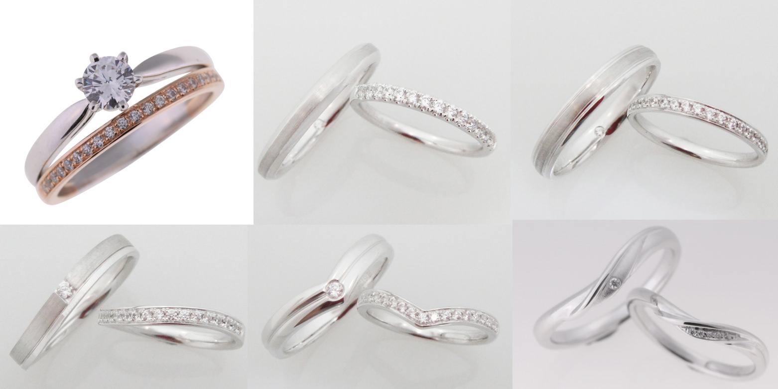 △主戒若是經典款鑽戒,建議可以搭配一排細細的鑽石線戒,左上為與主戒疊戴的範例