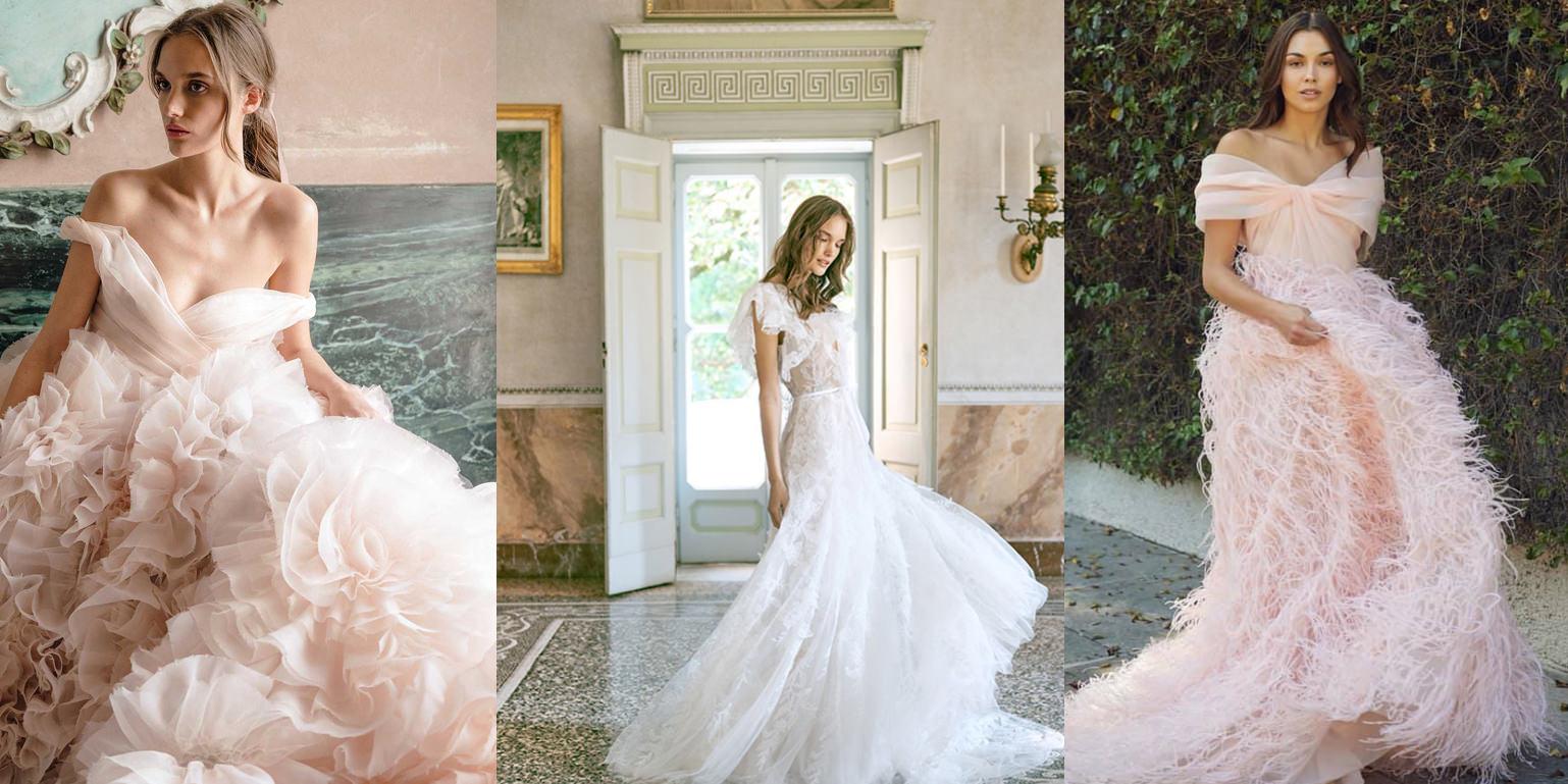 △ 婚紗鑽戒搭配,圖片取自Monique Lhuillier,若有侵權煩請通知下架