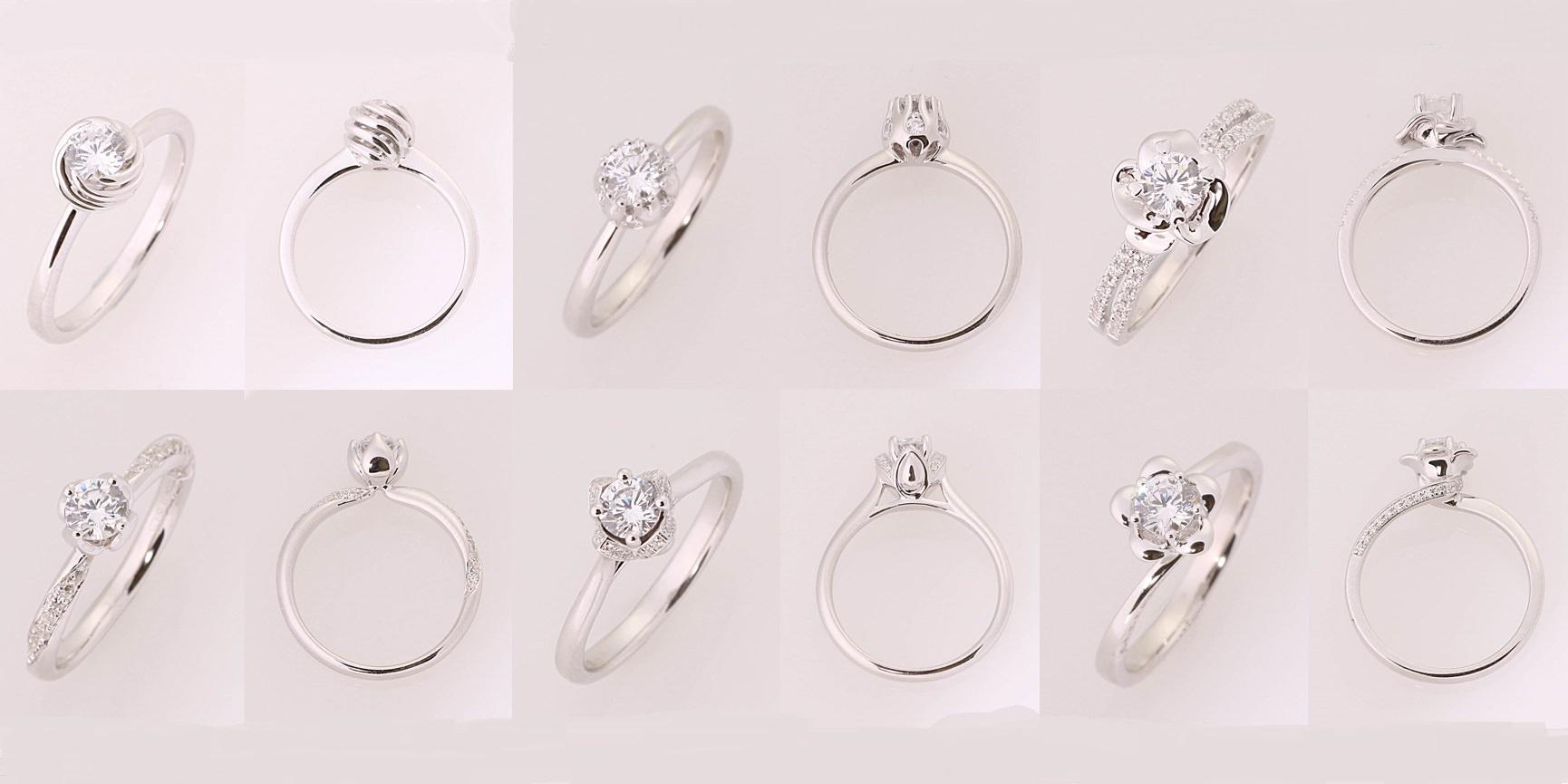 △大自然風格設計發想款式的求婚鑽戒,有甜甜的蜂巢、含苞的花朵、清晨的露珠,重點是這些款式都用爪托保護著主石,是給愛活動的她最好的選擇