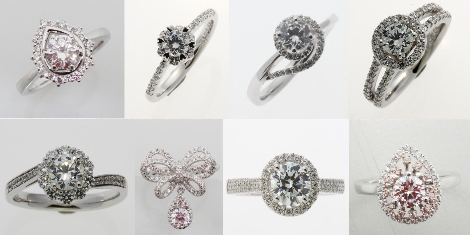 △這8個款式雖然不是日本大牌 I-PRIMO 同款的求婚鑽戒,不過是非常華麗的公主風設計