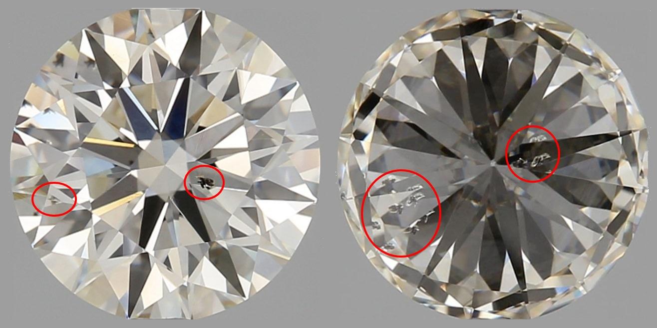 △這種低劣的品質,居然敢寫鑽石顏色:F.鑽石淨度:VVS1,真的非常不可思義